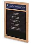 "UV101HDIR - 24"" x 36"" Single Door Enclosed Wood Frame Magnetic Directory with Header"