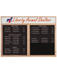 "UV103HDIR - 48"" x 36"" Single Door Enclosed Wood Frame Magnetic Directory with Header"